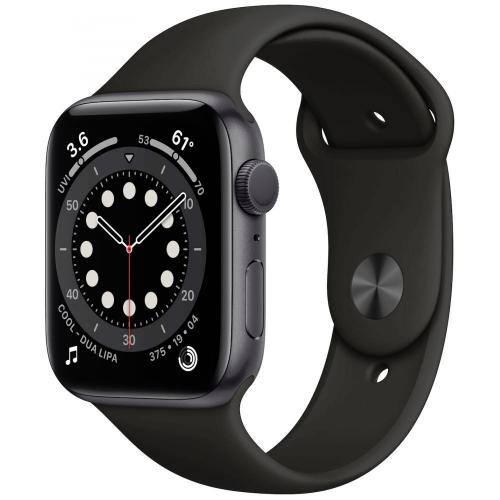 Watch Apple Watch Series 6 GPS 44mm Grey Aluminum Case with Sport Band - Black EU