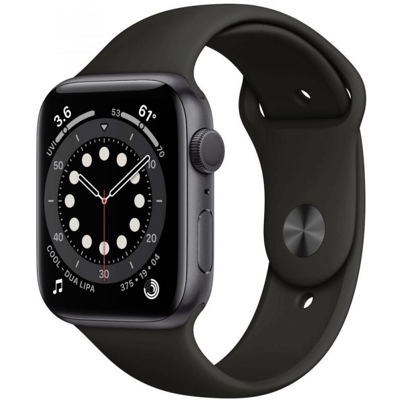 Apple Watch Series 6 GPS 44mm Grey Aluminum Case with Sport Band - Black EU
