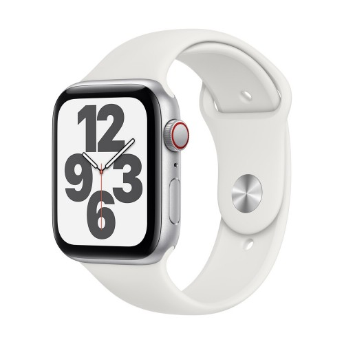 Watch Apple Watch SE GPS 44mm Silver Aluminium Case with Sport Band - White EU