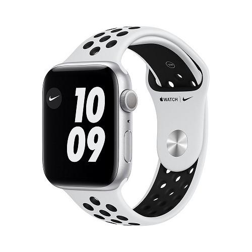 Watch Apple Watch Series 6 Nike GPS 40mm Silver Aluminium Case with Pure Platinum Sport Band - Black EU